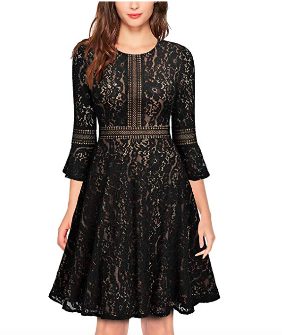 lace-flare-sleeve-dress-ten-little-black-dresses-perfect-for-every-occasion