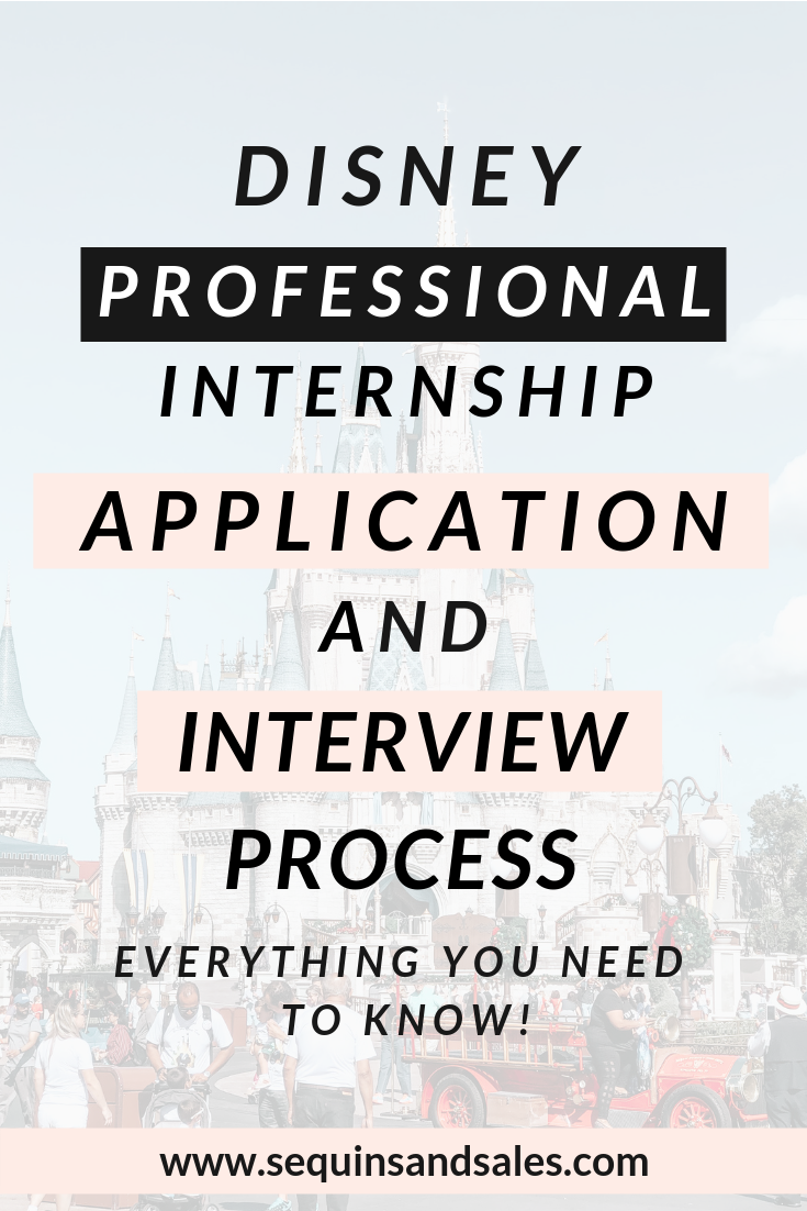 Disney Professional Internship Application and Interview Process