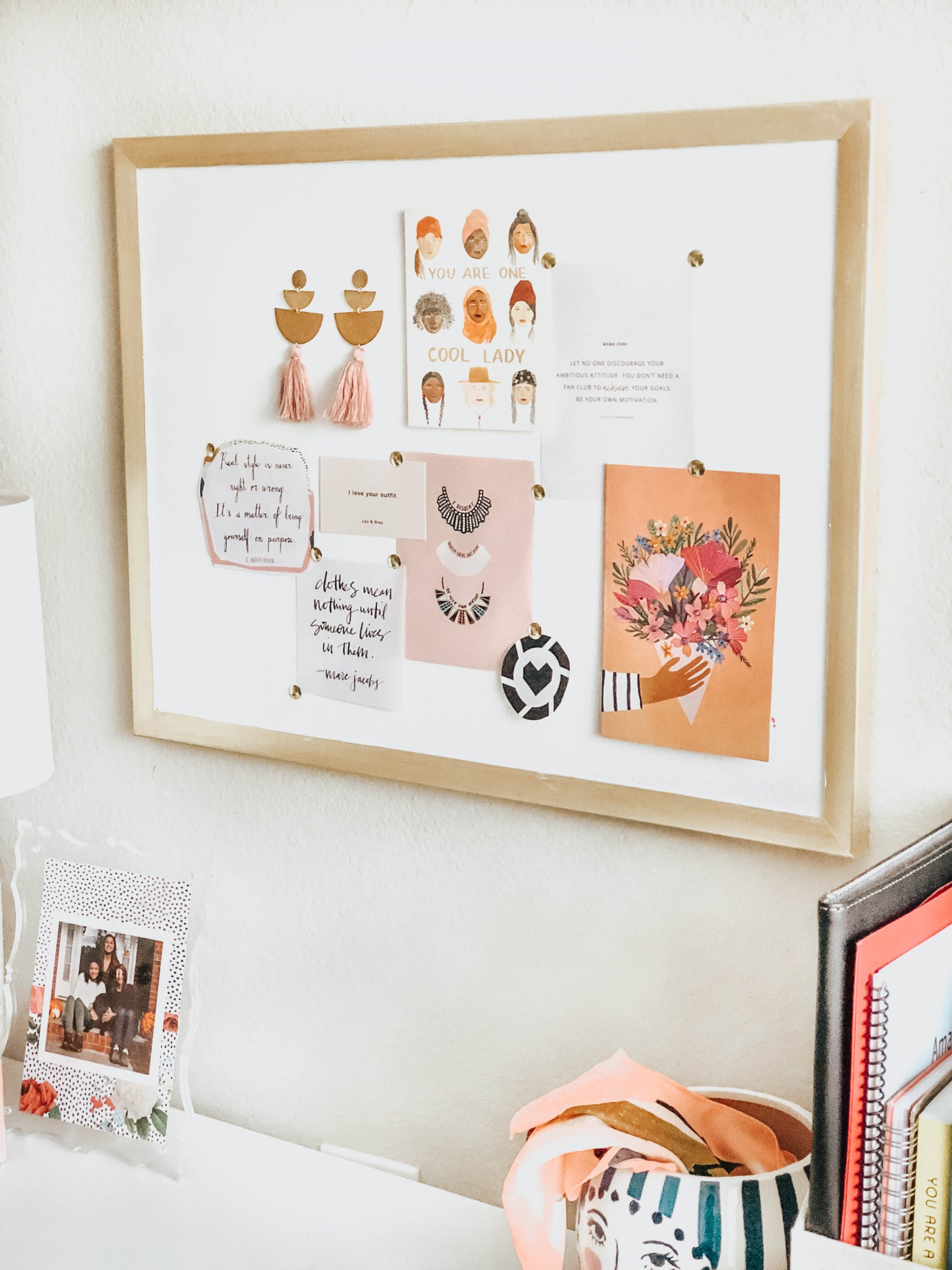 Easy DIY Gold Framed Cork Board (Under $15)