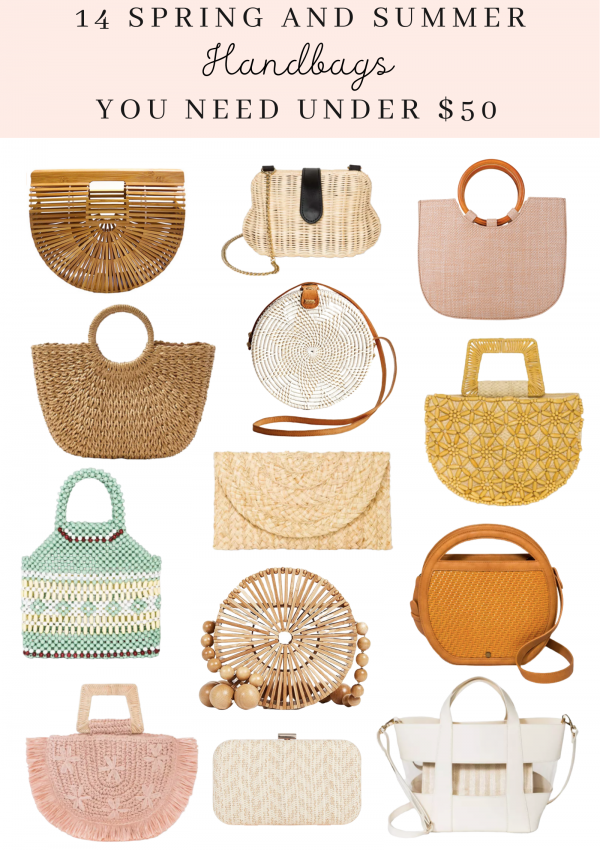 fourteen spring and summer handbags under fifty dollars