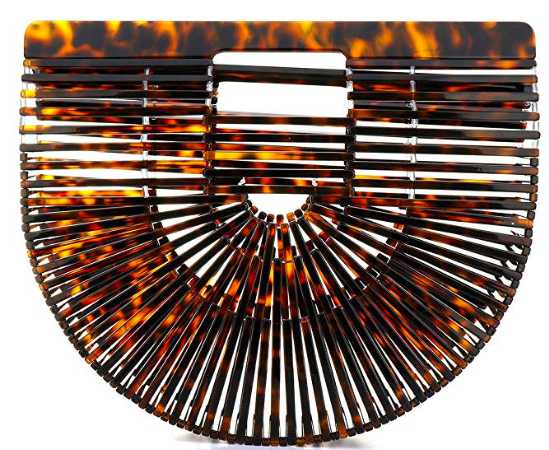 Tortoiseshell Ark Clutch Spring and Summer Handbags Under Fifty Dollars