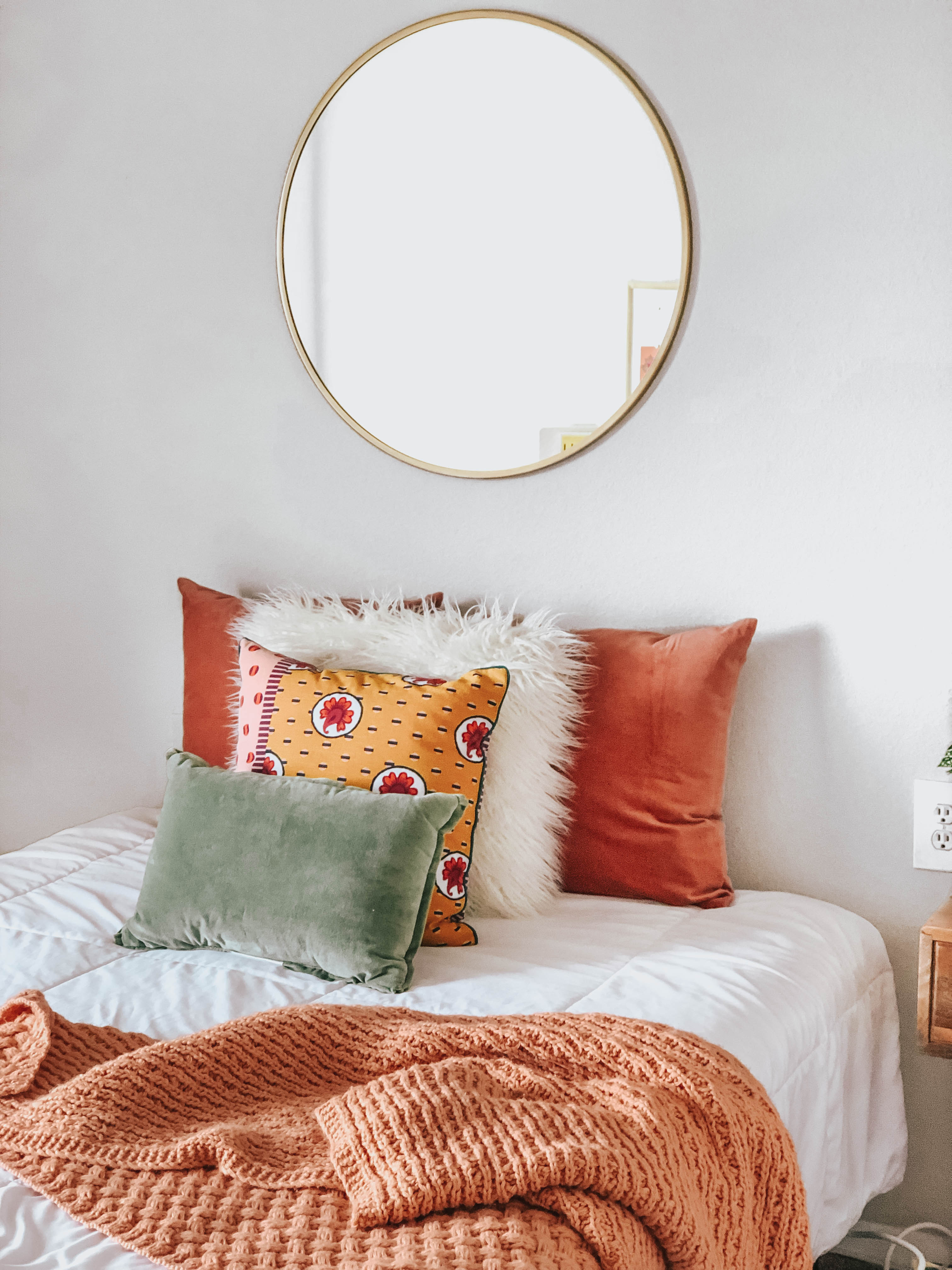 Master Bedroom Bed with five decorative