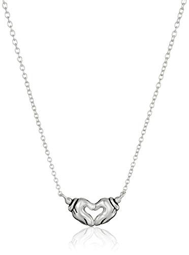 Mickey Mouse Hands in Heart Necklace Disney Finds