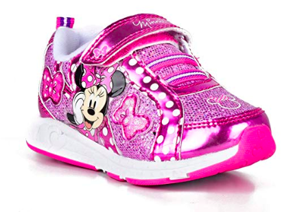 Minnie Mouse Kids Pink Light Up Sneakers Disney Finds