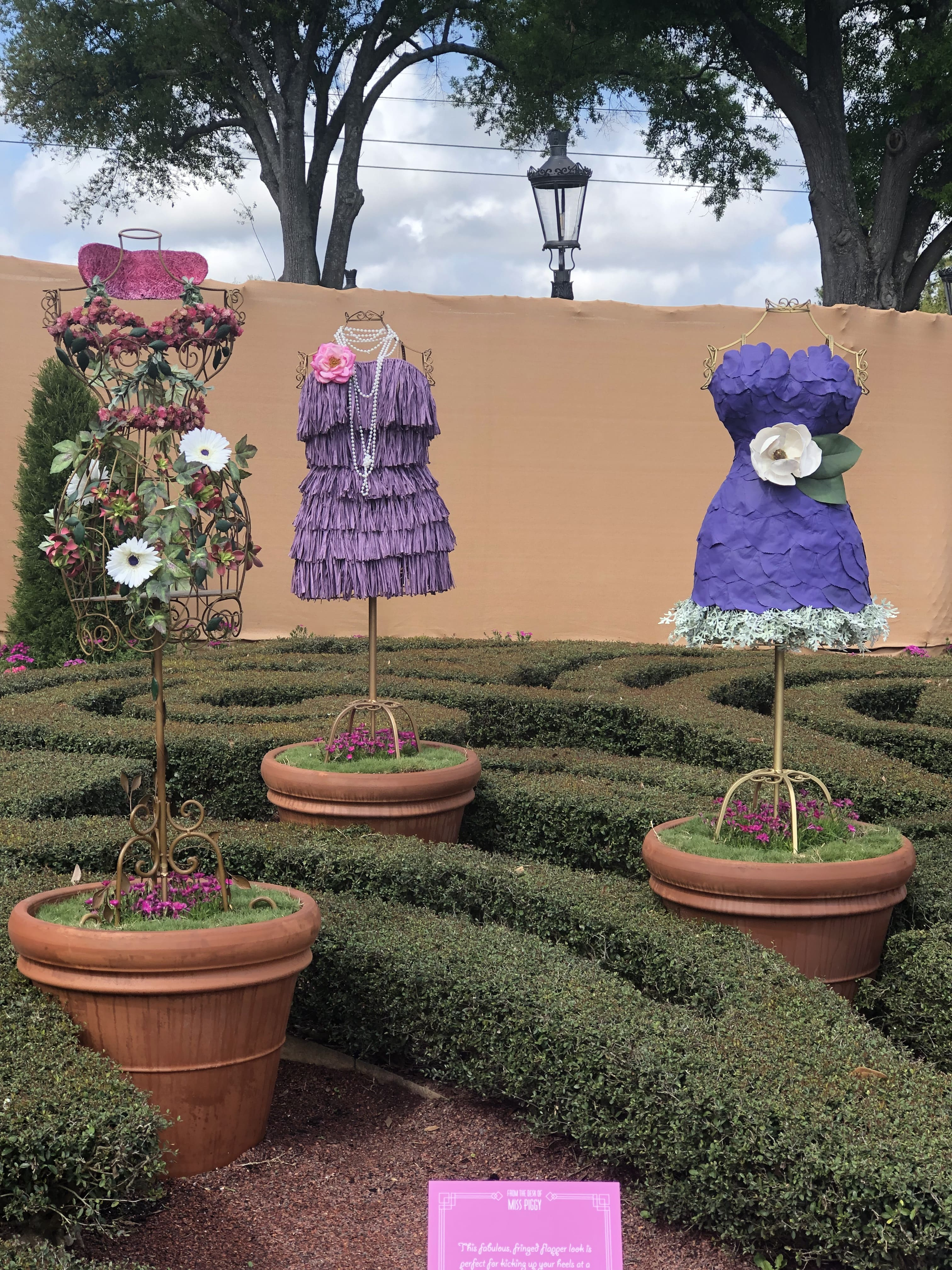 Clothing Mannequins Topiary Disney's Flower and Garden Festival