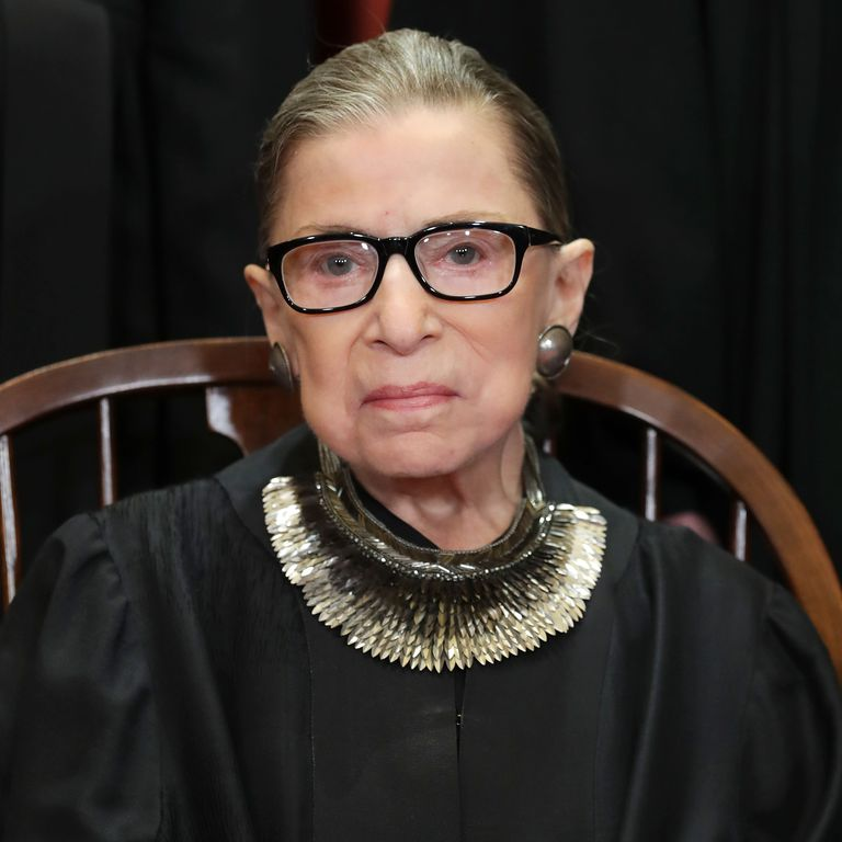 Ruth Bader Ginsburg Headshot Elle