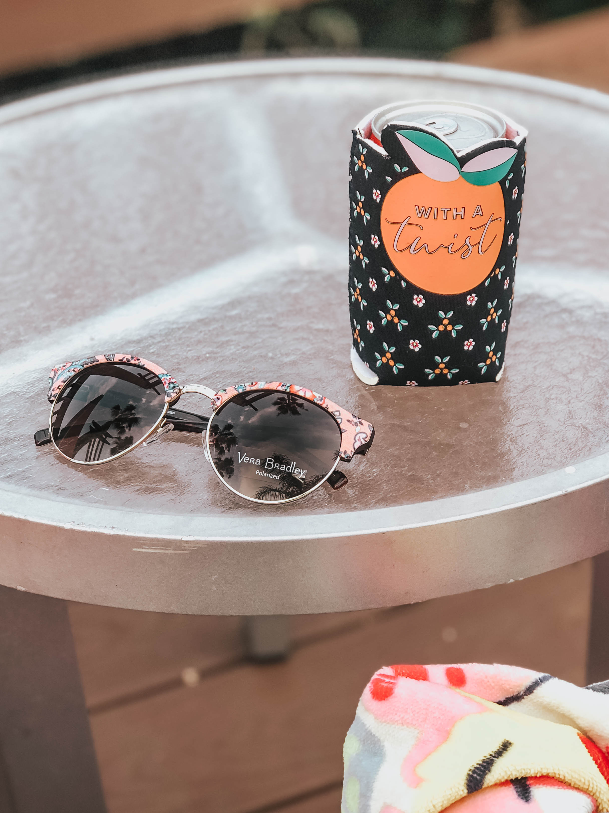 Vera Bradley Sunglasses and Koozie