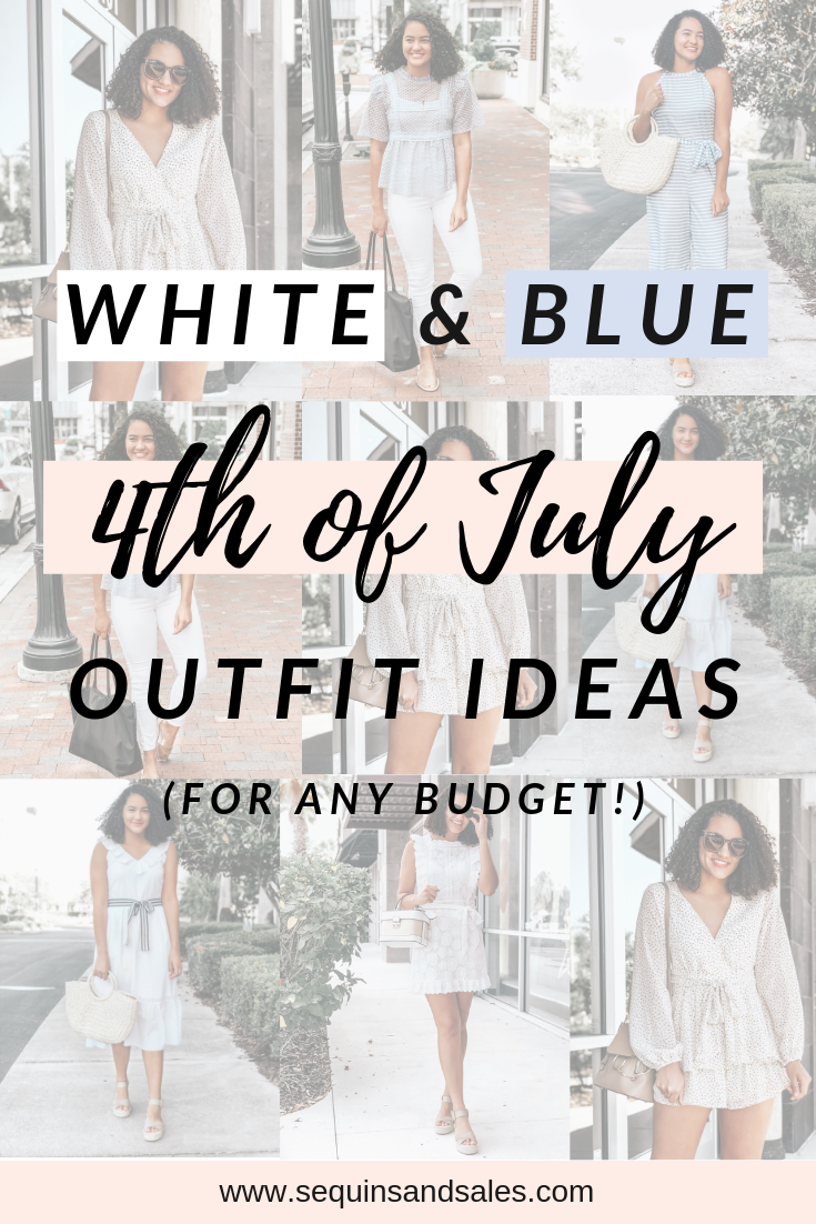 White and Blue Fourth of July Outfit Ideas - For Any Budget