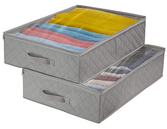 Gray Under the Bed Storage Bins