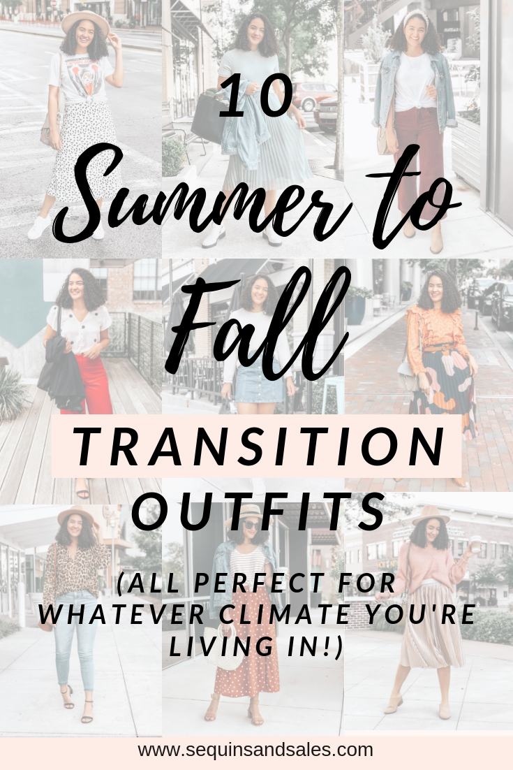 Ten Summer to Fall Transition Outfits Cover Photo