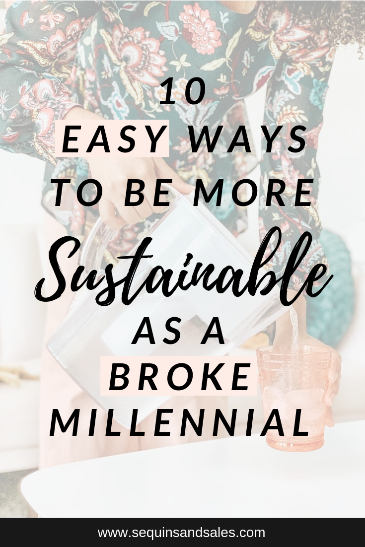 10 Easy Ways to be More Sustainable as a Broke Millennial Cover Photo