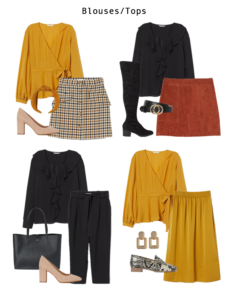 Four Work Wear Looks that Pair Blouses with Skirts and Pants