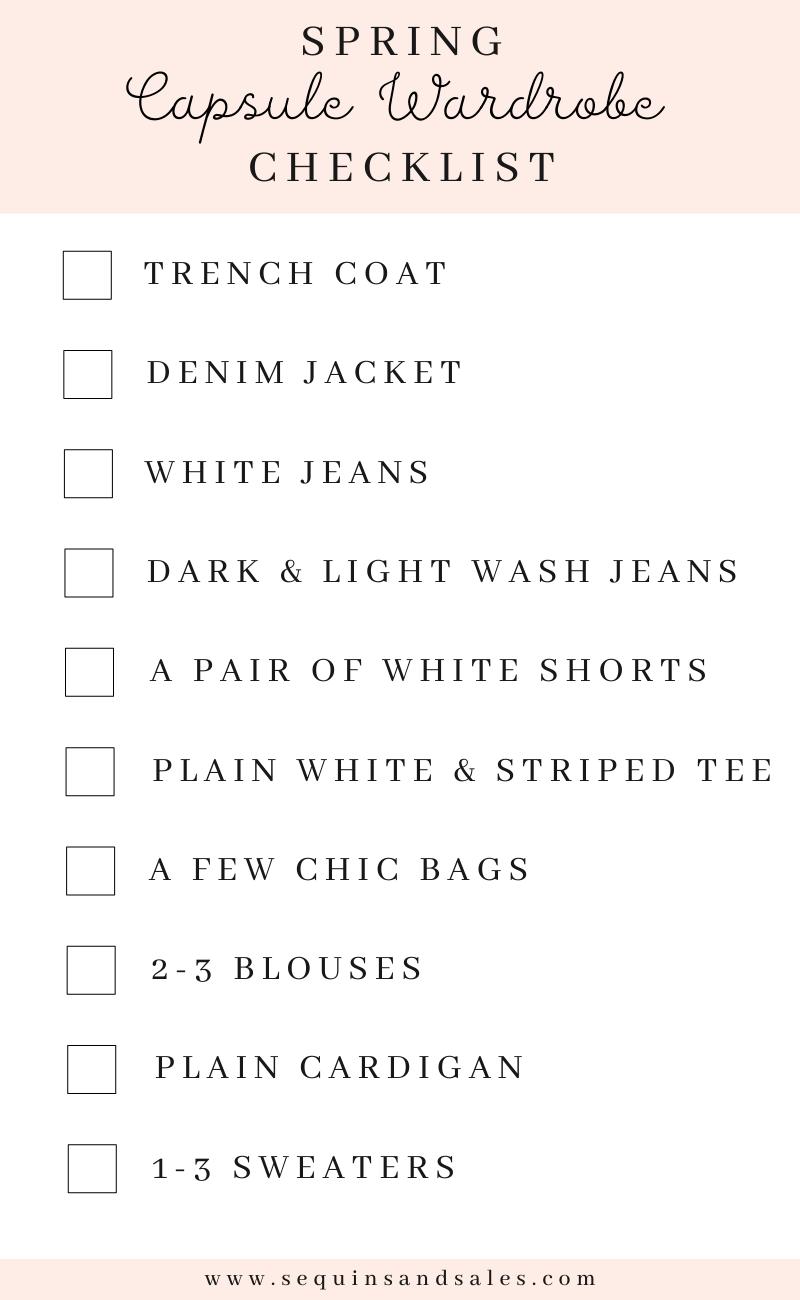 Spring Capsule Wardrobe Checklist
