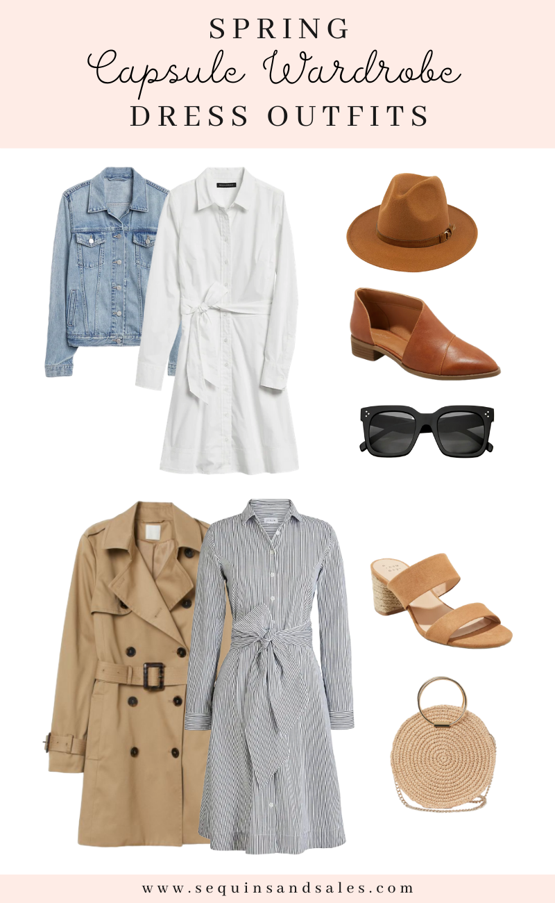 Spring Capsule Wardrobe Dress Outfits
