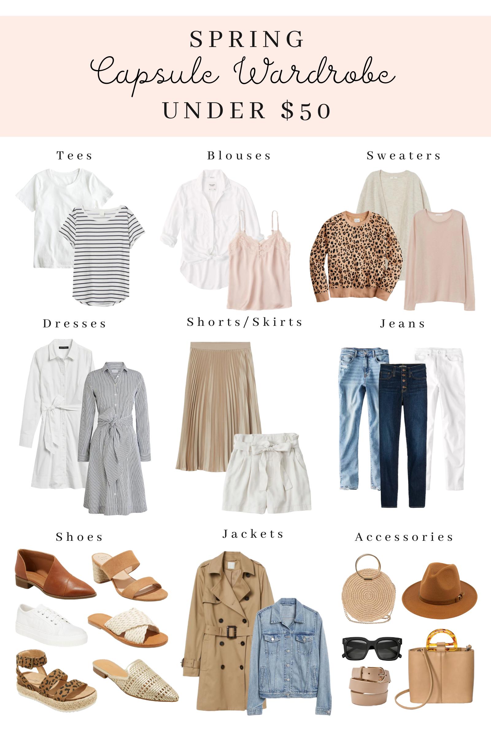 Spring Capsule Wardrobe Essentials Under $5 - Sequins and Sales