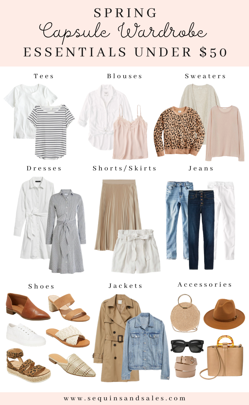 Spring Capsule Wardrobe Essentials Under $50