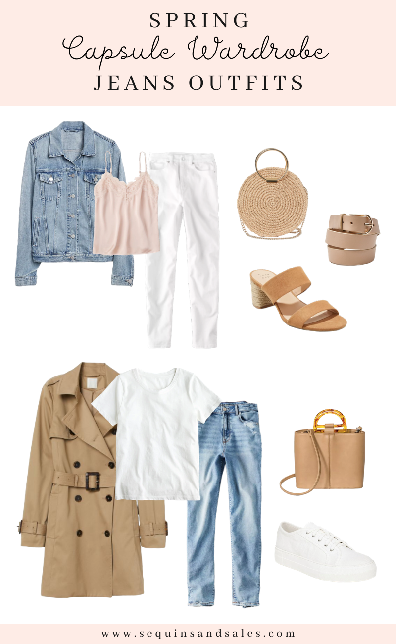Spring Capsule Wardrobe Jeans Outfits