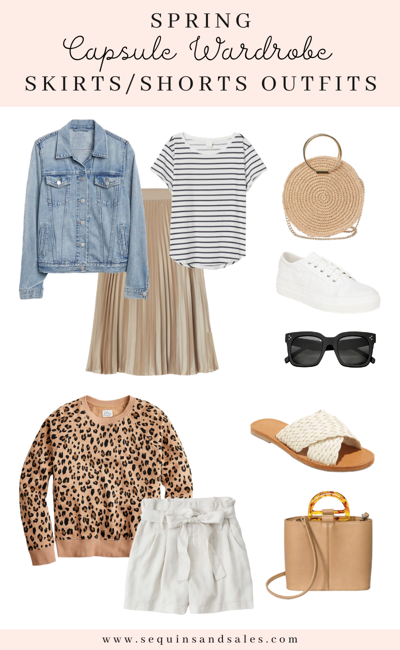Spring Capsule Wardrobe Skirts and Shorts Outfits