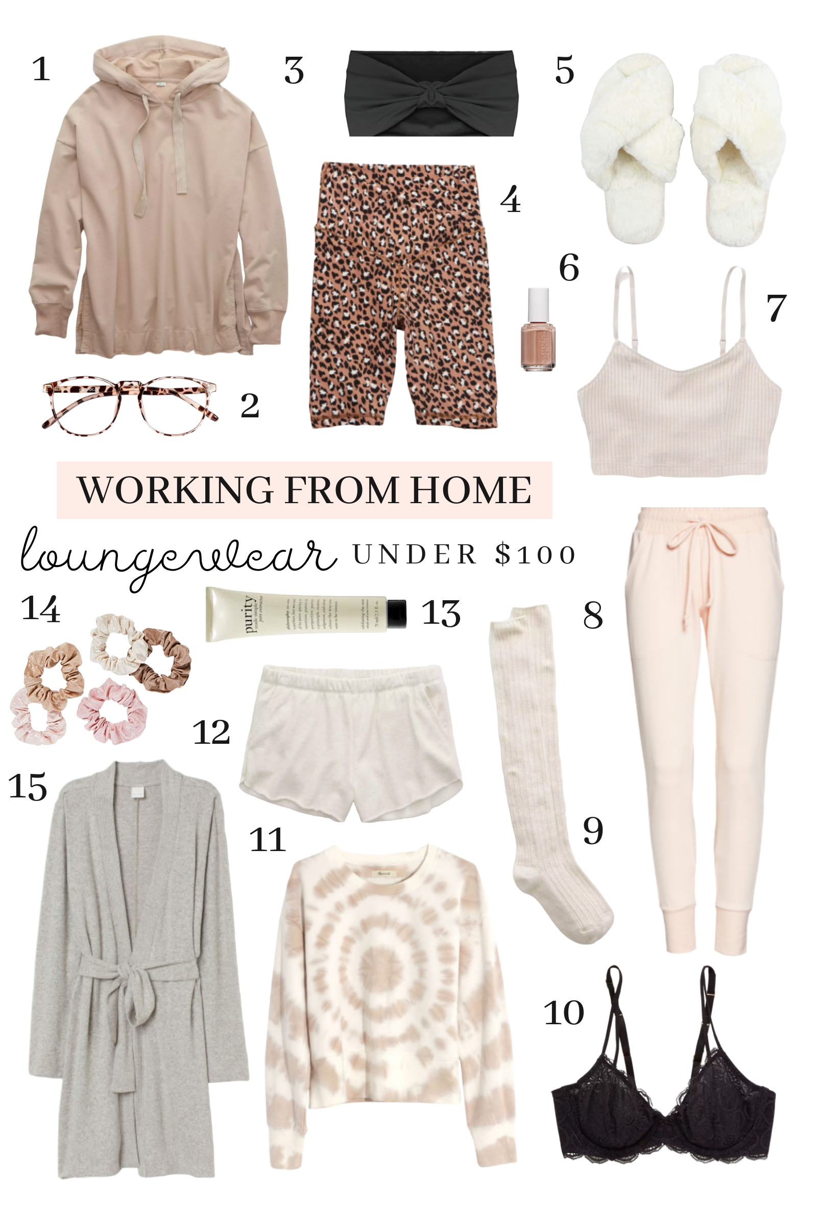 working from home loungewear roundup under $100