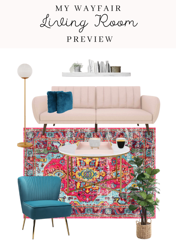 Living Room Preview With Wayfair