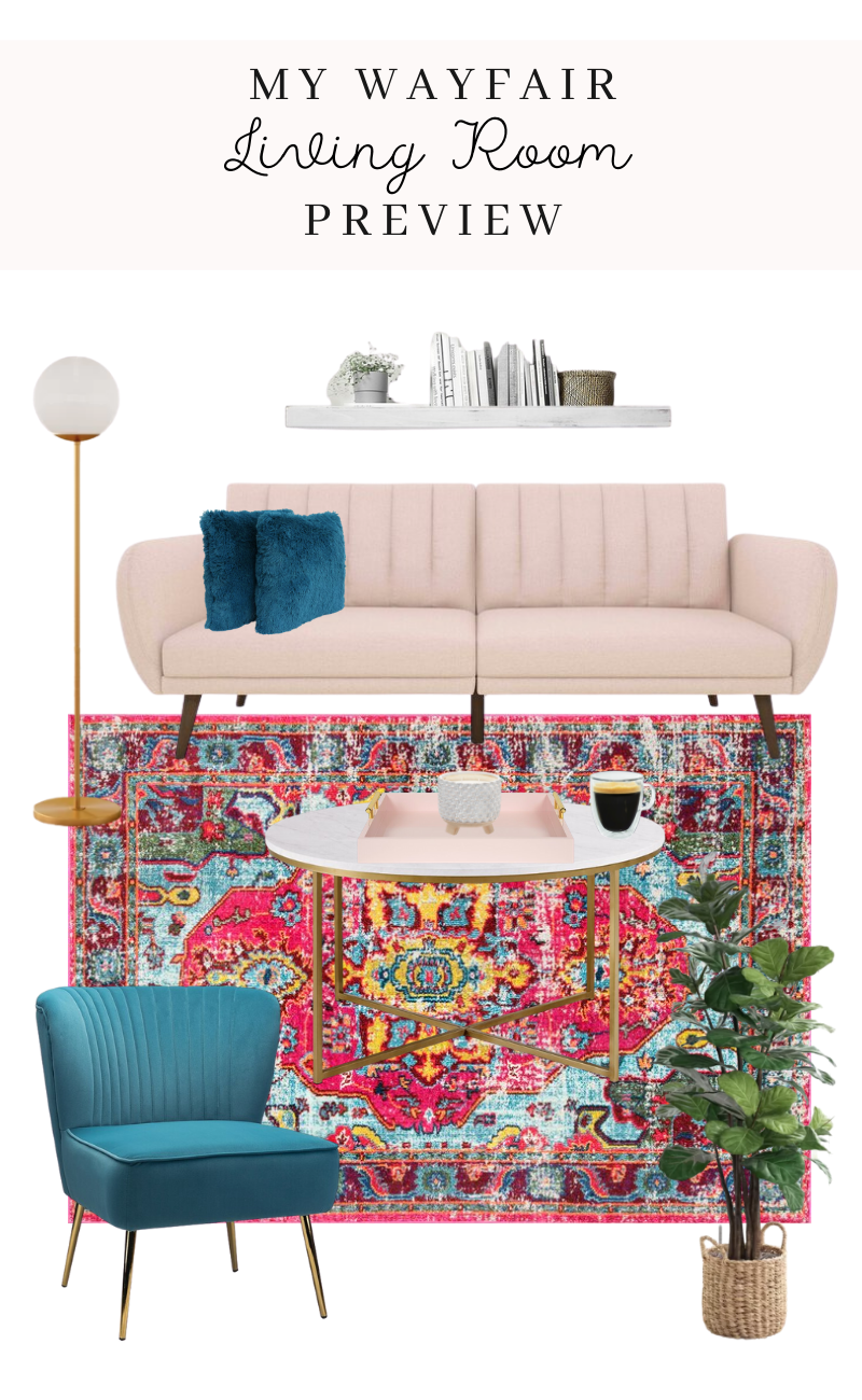 my wayfair living room preview