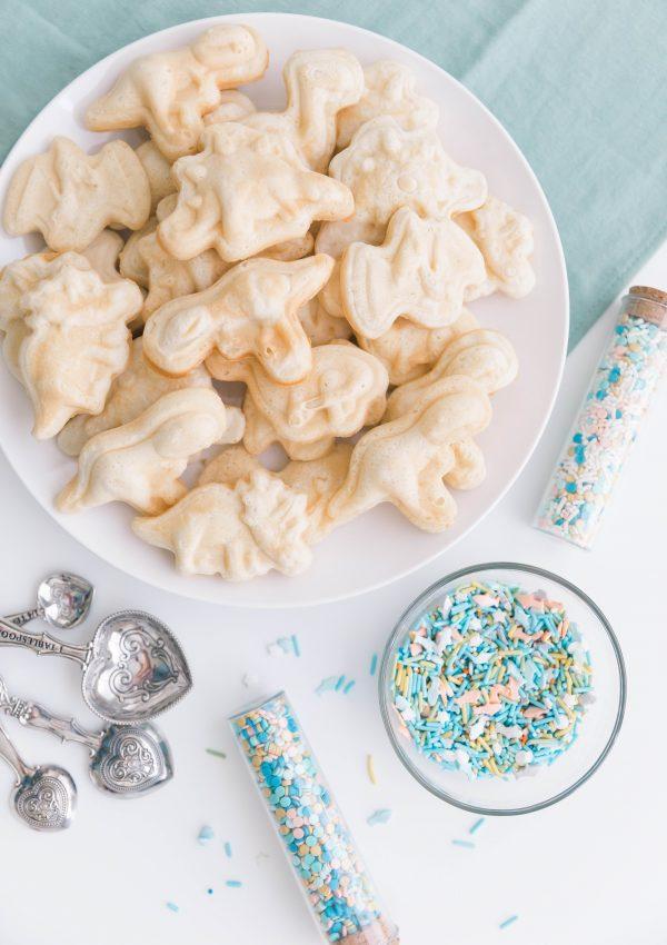 Dinosaur Waffles With Sprinkles – A Fun Breakfast Idea
