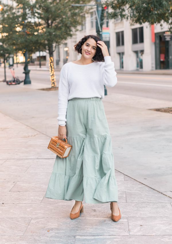 Styling Tiered Pants for the Winter