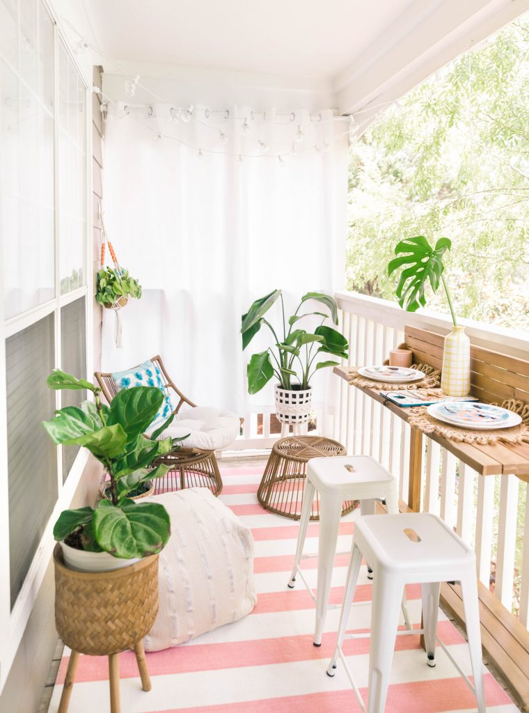 Small Apartment Patio Makeover